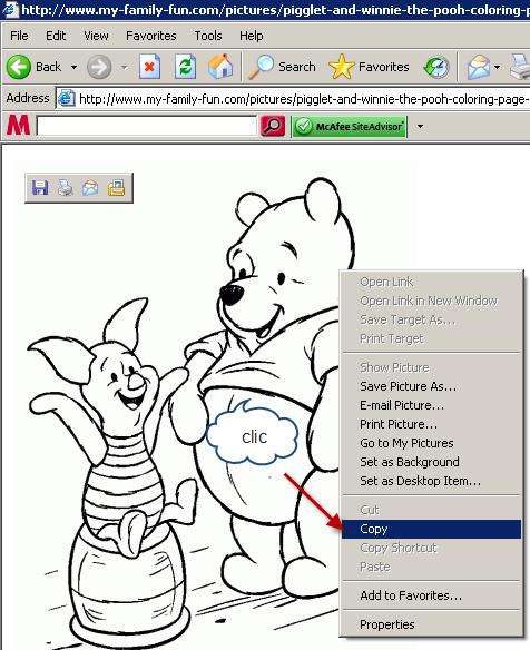 Copiar una imagen con el click derecho